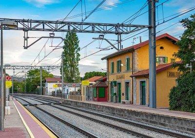 vista estación del ferrocarril Robledo